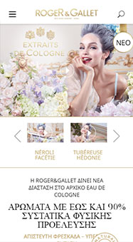 Roger&Gallet Site web international Responsive 2