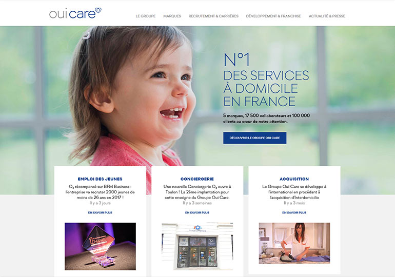 OuiCare Site Web WordPress Desktop 1