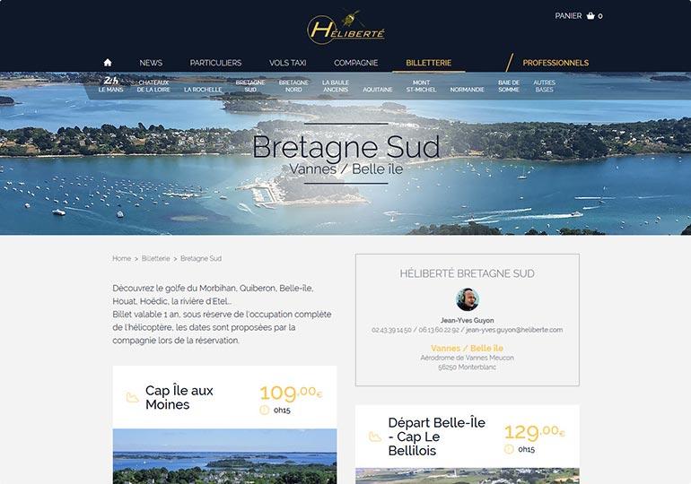 Heliberté Site e-commerce Desktop 2