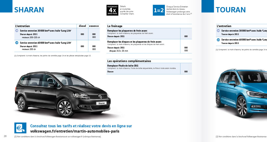 Volkswagen Web to print Catalogue 3