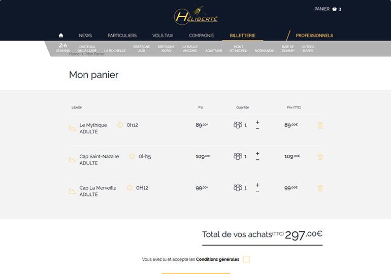 Heliberté Site e-commerce Desktop 3