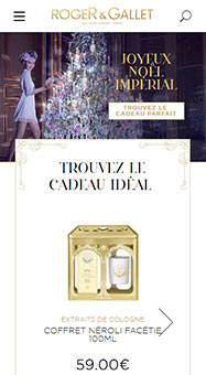 Roger&Gallet Site web International Responsive 1