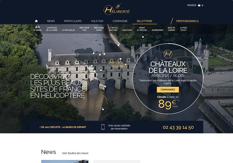 Heliberté Site e-commerce Desktop 1