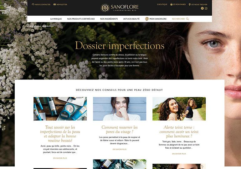 Sanoflore Site web vitrine desktop 2