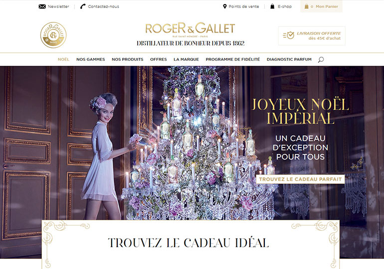 Roger&Gallet Site web International Desktop 1