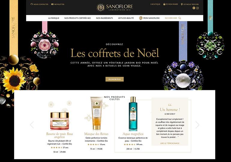 Sanoflore Site web vitrine desktop 1