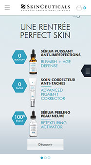 Skinceuticals Site web international responsive 1